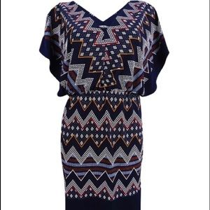 Sangria Blouson Dress